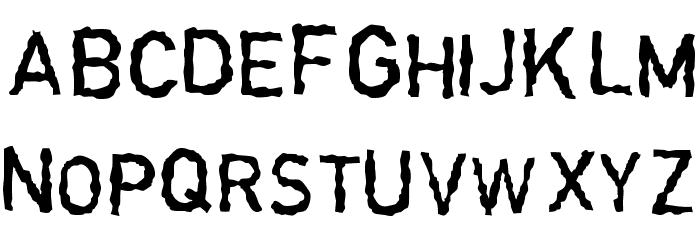 Garbageschrift Thin Font UPPERCASE