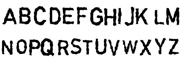 Garbageschrift Thin Font LOWERCASE