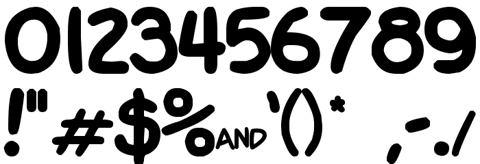 Garfield Font OTHER CHARS