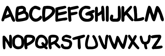 Garfield Font UPPERCASE
