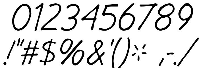 GargleRg-Italic Fonte OUTROS PERSONAGENS