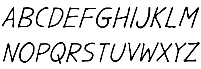 GargleRg-Italic Fonte MAIÚSCULAS