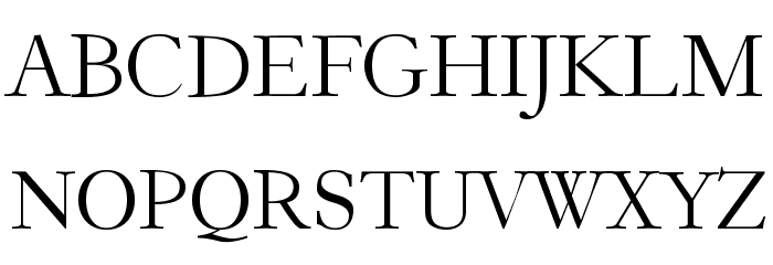 Garogier Regular Font Litere mari