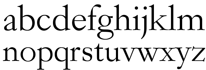 Garogier Regular Font Litere mici