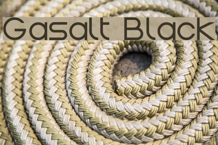 Gasalt Black Шрифта examples