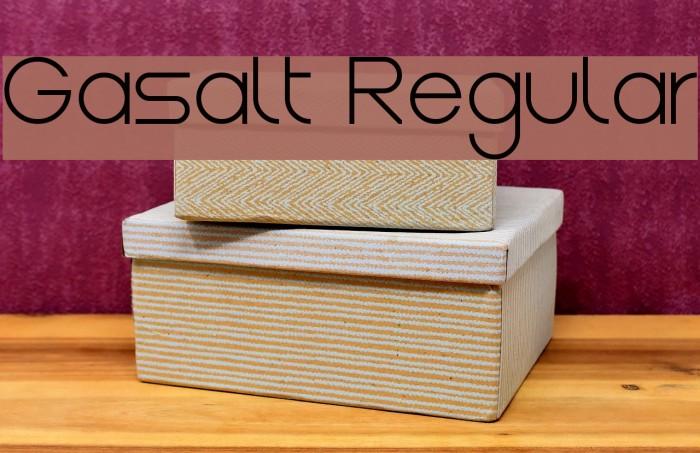 Gasalt Regular Шрифта examples