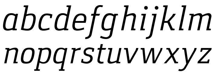 Gaspar-Italic Schriftart Kleinbuchstaben