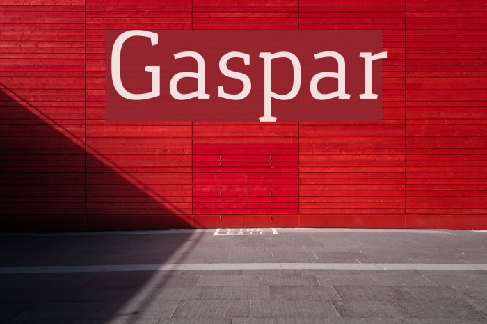 Gaspar Schriftart examples