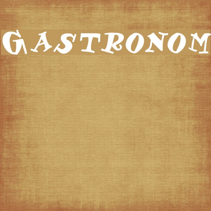 Gastronom Font examples