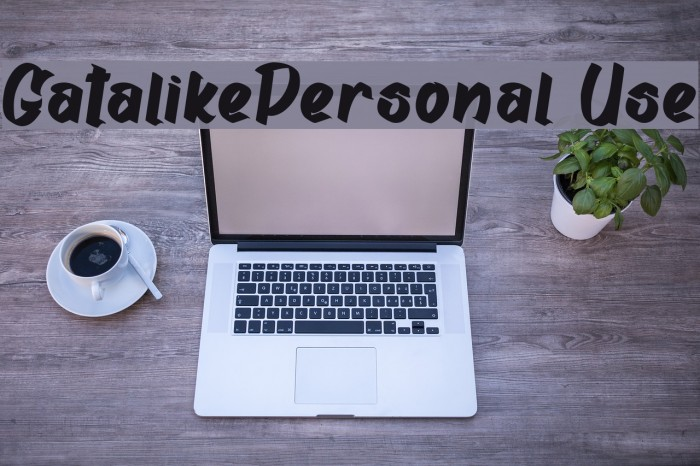Gatalike_Personal Use Font examples