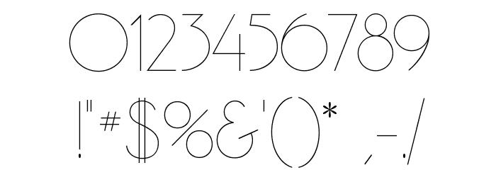 GatsbyFLF Font OTHER CHARS