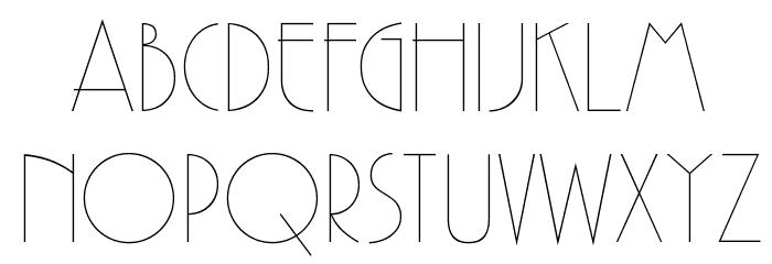 GatsbyFLF Font UPPERCASE