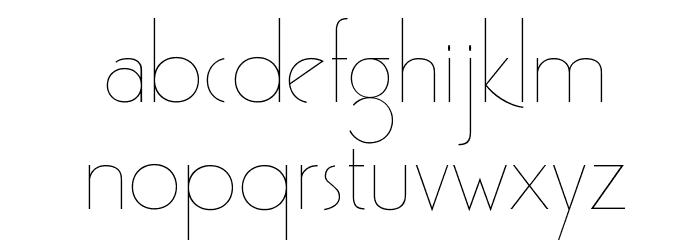 GatsbyFLF Font LOWERCASE