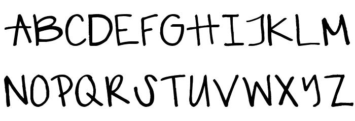 gabiies handwritting Fonte MAIÚSCULAS