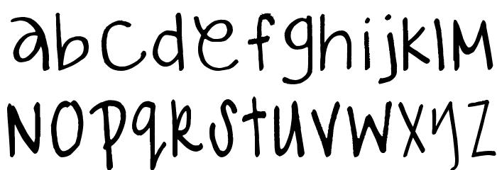 gabiies handwritting Fonte MINÚSCULAS
