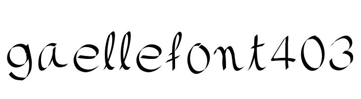 gaellefont403  font caratteri gratis