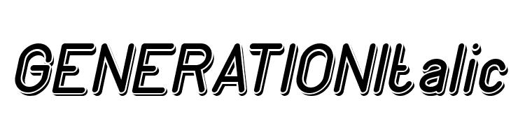 GENERATION Italic  नि: शुल्क फ़ॉन्ट्स डाउनलोड