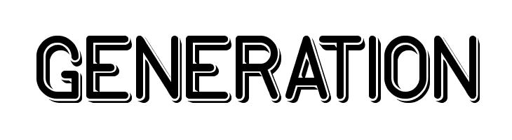 GENERATION  नि: शुल्क फ़ॉन्ट्स डाउनलोड