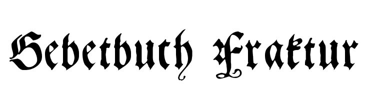 Gebetbuch Fraktur  Free Fonts Download