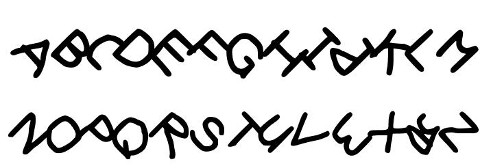 Gee_WP_Handwriting_2016_Skew Book Font Litere mari