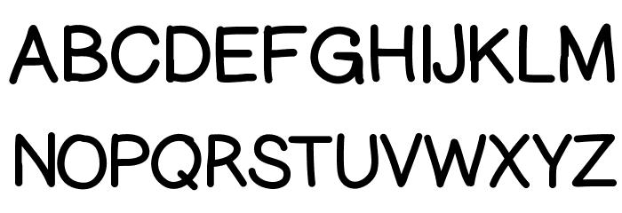 GelPenUpright Font UPPERCASE