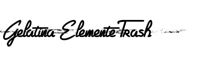 Gelatina Elemente Trash  font caratteri gratis