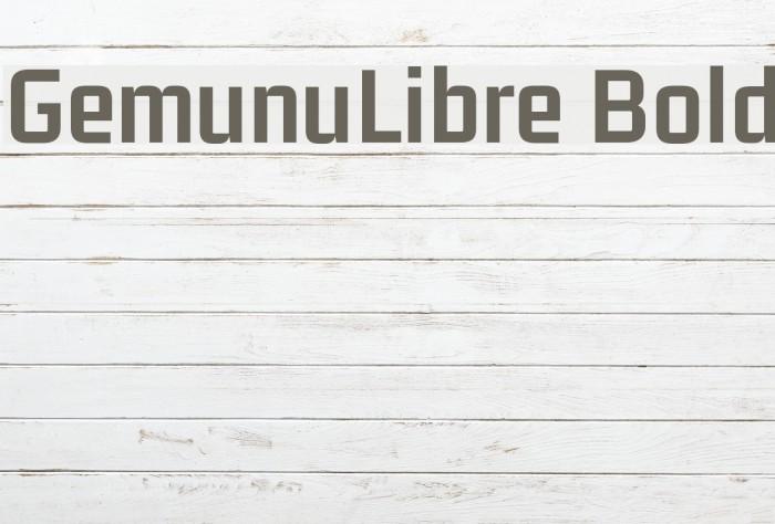 GemunuLibre Bold Fuentes examples