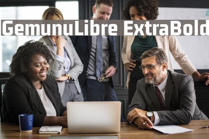 GemunuLibre ExtraBold Fuentes examples