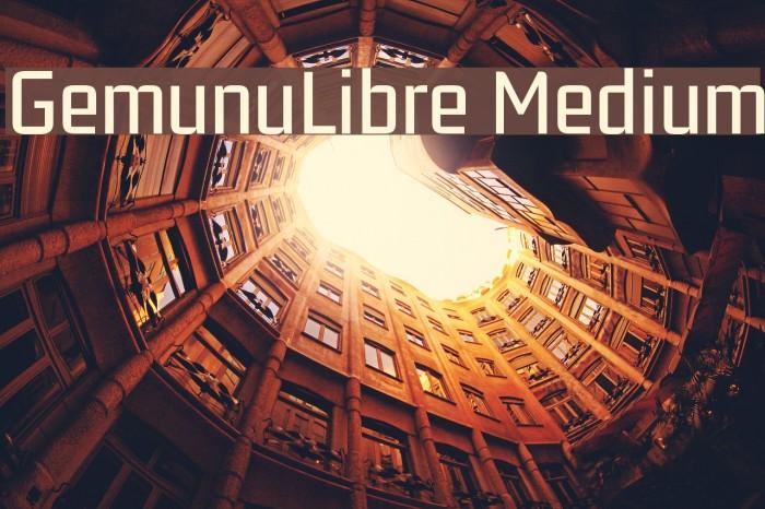 GemunuLibre Medium Fuentes examples
