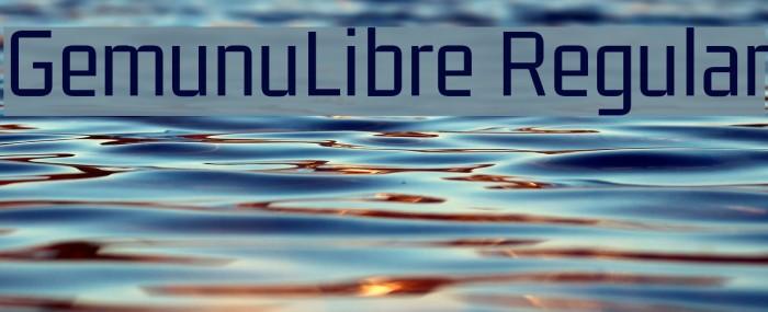 GemunuLibre Regular Fuentes examples