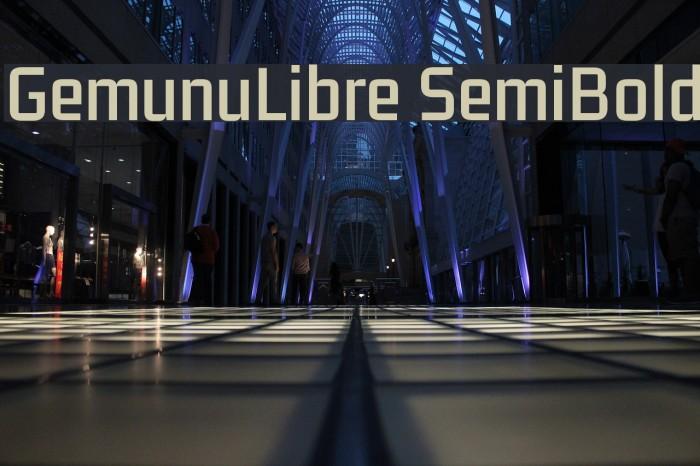 GemunuLibre SemiBold Fuentes examples