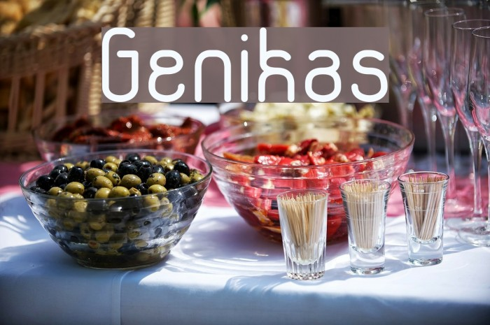 Genikas Font examples