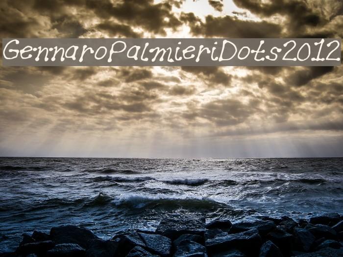 GennaroPalmieriDots2012 Font examples