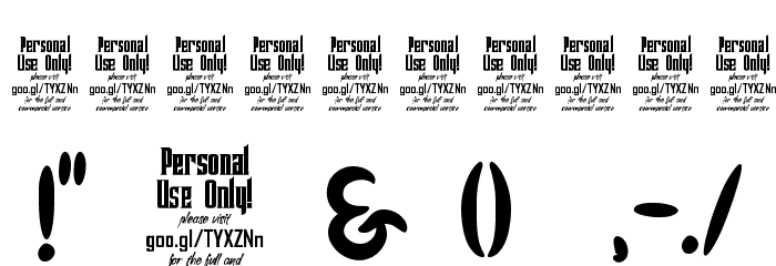 Genoock Personal Use Font OTHER CHARS