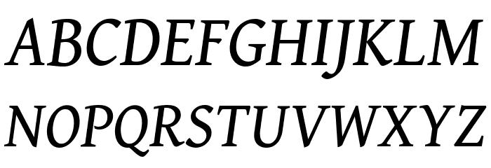 Gentium Book Basic Italic Font UPPERCASE