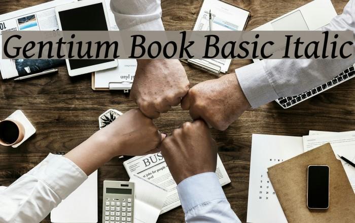 Gentium Book Basic Italic Font examples