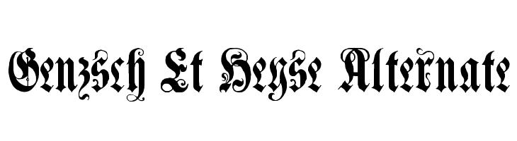 Genzsch Et Heyse Alternate  Descarca Fonturi Gratis