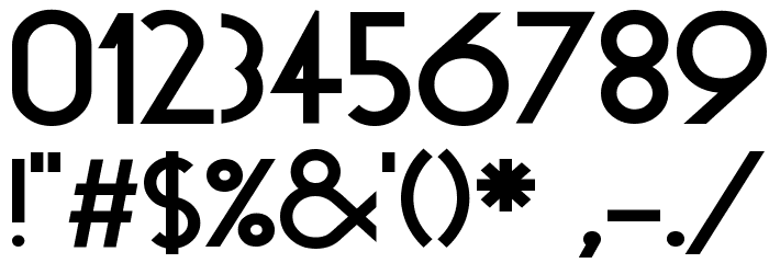 Geo Bold Font OTHER CHARS