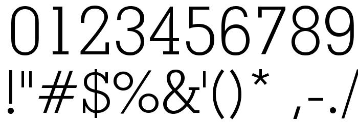Geometric Slabserif 703 Light BT Font OTHER CHARS