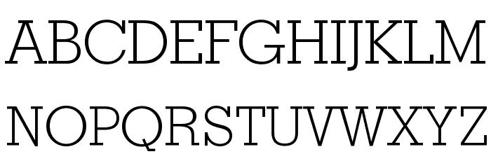 Geometric Slabserif 703 Light BT Font UPPERCASE