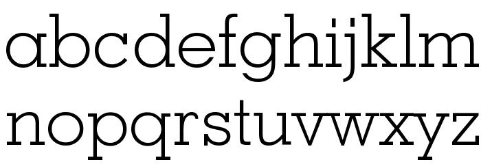 Geometric Slabserif 703 Light BT Font LOWERCASE