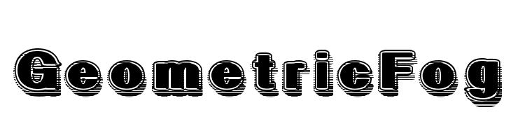 GeometricFog  font caratteri gratis