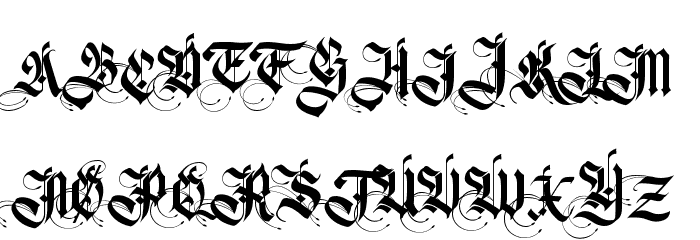 Germanika Personal Use Regular Font UPPERCASE