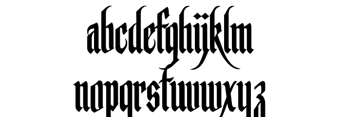 Germanika Personal Use Regular Font LOWERCASE