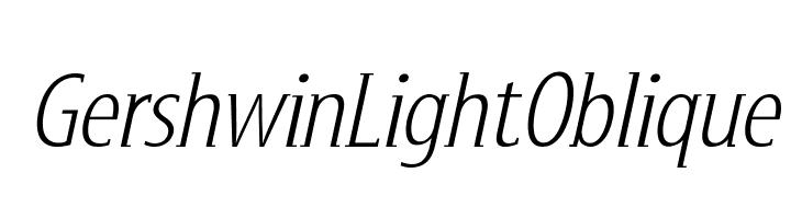 GershwinLightOblique  Скачать бесплатные шрифты
