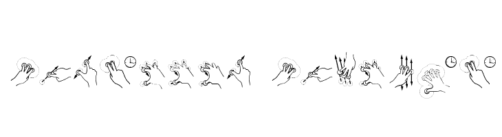 Gesture Glyphs  Descarca Fonturi Gratis