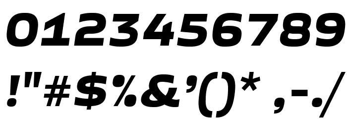 GetVoIPGrotesque-Italic Font OTHER CHARS