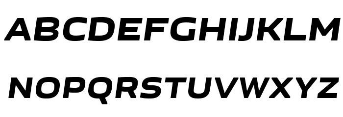 GetVoIPGrotesque-Italic Font UPPERCASE