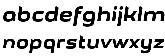 GetVoIPGrotesque-Italic Font LOWERCASE