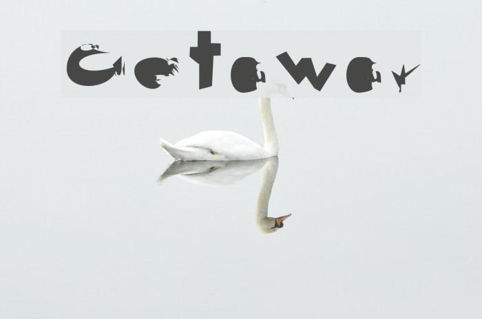 Getaway Schriftart examples